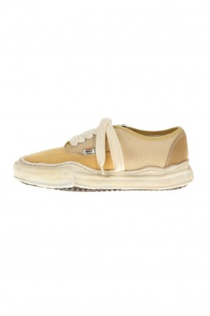 MIHARAYASUHIRO21-22AW-BAKER- Over-dyed original sole canvas Low-Top sneakers Yellow