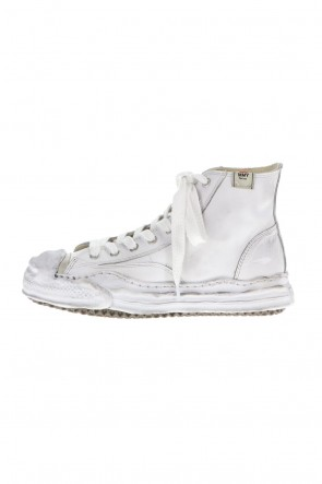 MIHARAYASUHIRO21-22AW-HANK high- original distressed effect sole leather High-Top sneakers White