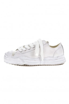 MIHARAYASUHIRO21-22AW-HANK low- original distressed effect sole leather Low-Top White