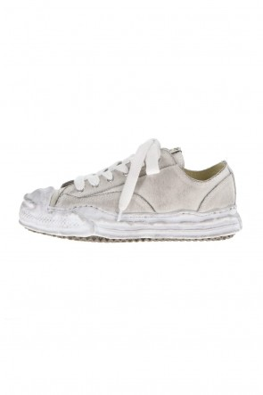 MIHARAYASUHIRO21-22AW-HANK low- original distressed effect sole canvas Low-Top sneakers White