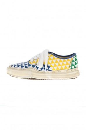 MIHARAYASUHIRO21-22AW-BAKER- Over-dyed original sole printed canvas Low-Top sneakers Multi