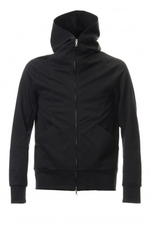 ATTACHMENT19SS60/1 Double Face ZIPUP Hoodie Black
