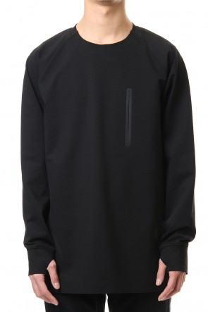 ATTACHMENT 20SS Fabio punch crew neck L/S Black
