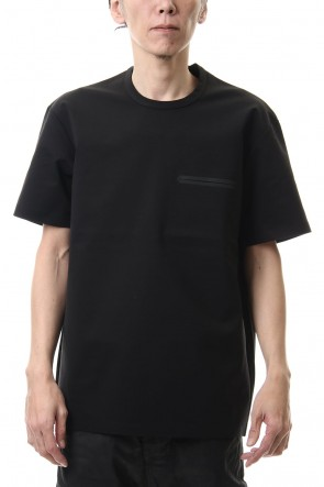 ATTACHMENT 20SS Fabio punch crew neck S/S Black