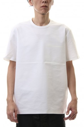 ATTACHMENT 20SS Fabio punch crew neck S/S White