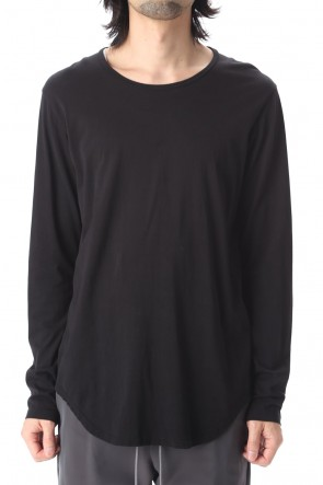 ATTACHMENT 20-21AW 80/2 Tightness plain stitches crew neck L/S Black