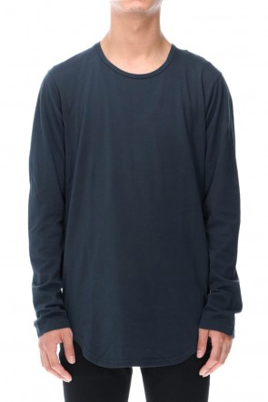 ATTACHMENT 20-21AW 80/2 Tightness plain stitches crew neck L/S D.Gray