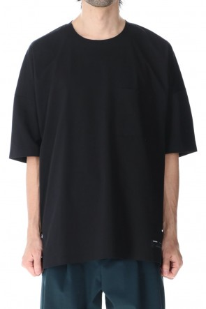 ATTACHMENT 21SS High gauge jersey technical T-shirt Black