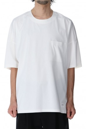 ATTACHMENT 21SS High gauge jersey technical T-shirt White