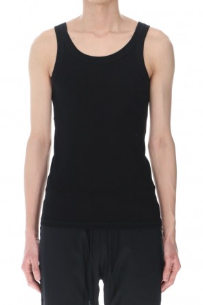ATTACHMENT 21SS Fresca Rib Tank Top Black