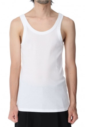 ATTACHMENT 21SS Fresca Rib Tank Top White