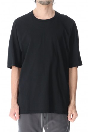 ATTACHMENT 21SS 30/1 Mercerization High Twist T-shirts Black