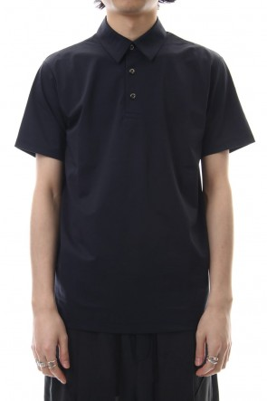 ATTACHMENT19SS80/1 × T400 compact indoor polo shirt D.Green