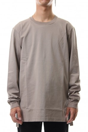 ATTACHMENT 19-20AW Giza shirky jersey crew neck L/S cut&sewn L-Beige