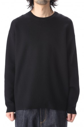ATTACHMENT 20-21AW W/Pe double face knit Crewneck pullover Black