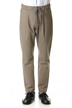 ATTACHMENT 20SS Fabio punch 1Tuck easy pants Khaki Gray