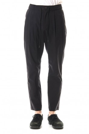 ATTACHMENT20SSC / Ny / Li high power stretch weather 1 Tuck wide easy pants Black