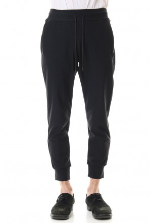 ATTACHMENT 20SS High tension twill Jogger pants Black