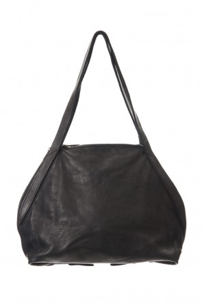 Guidi19-20AWhandle Bag Soft Horse Full Grain Leather BLK/T