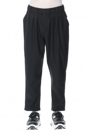 White Mountaineering21-22AWSolotex stretched twilled 3 Tucked easy Tapered pants