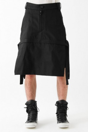 "17SS ""TAURUS+"" skirted paneled shorts"