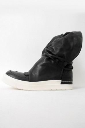 CINZIA ARAIA SANTIAGO Layered High Cut Sneakers BLACK×WHITE