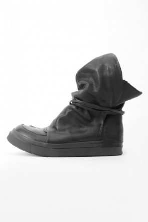 CINZIA ARAIA  SANTIAGO Layered High Cut Sneakers BLACK×BLACK