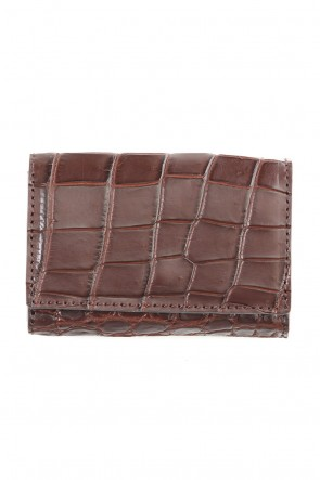 cornelian taurus Classic Card case - Crocodile Leather