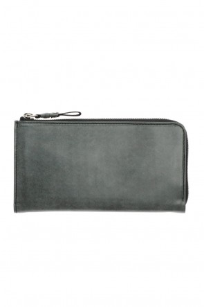 cornelian taurus 21SS Tower Wallet - Horse leather from Aomori wax press Black