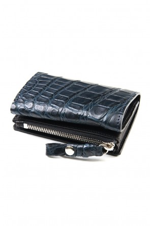 cornelian taurus 20SS connect wallet mini crocodile Navy