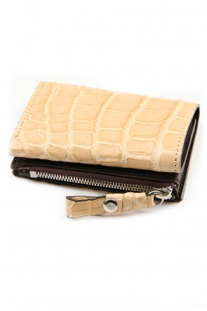 cornelian taurus 20SS connect wallet mini crocodile Natural