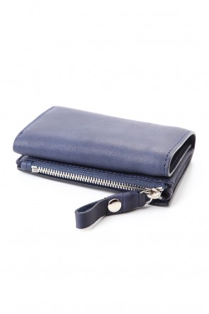 cornelian taurus Classic connect wallet mini - Glove Steer Leather D.Navy
