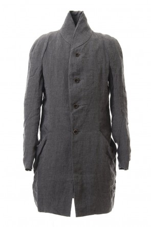 individual sentiments 20SS Linen Herringborne Bio Finish Coat - CO2-LI13