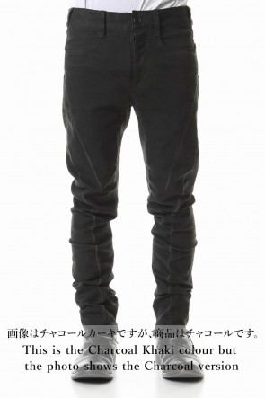 SADDAM TEISSY 20SS Over Cold Dyed Curve Slim Pants Charcoal