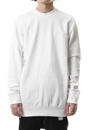 11 BY BORIS BIDJAN SABERI 19SS Reflector print & embroidery sweatshirt