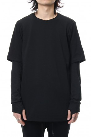 DEVOA 19SS Long sleeve layerd type cotton canapa jersey