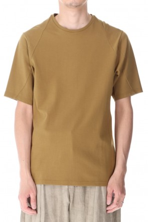 DEVOA 21SS Short sleeve cotton jersey Dark Mustard