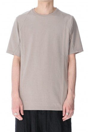 DEVOA 21SS Short sleeve cotton jersey Stone Gray
