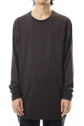 DEVOA 19-20AW Long sleeve loose fit 80/2 cotton jersey