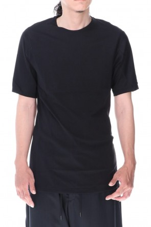 DEVOA 20-21AW Short sleeve indian cotton jersey ( SUVIN )  Black