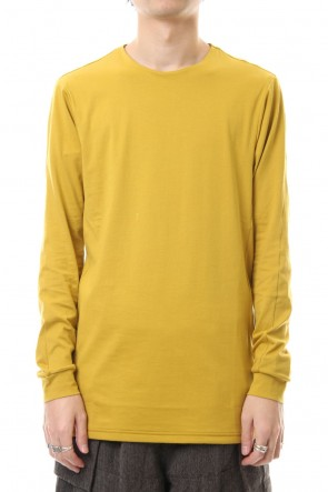 DEVOA 20SS Long Sleeve egyptian cotton jersey (SUVIN) - Dirty Yellow