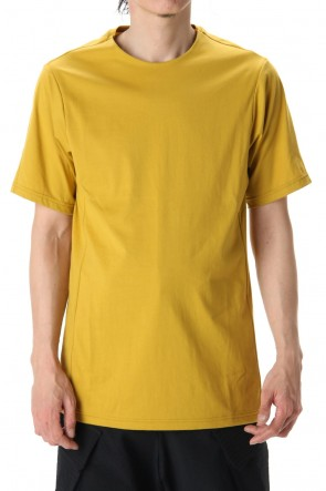 DEVOA 20SS Short Sleeve egyptian cotton jersey (SUVIN) - Dirty Yellow