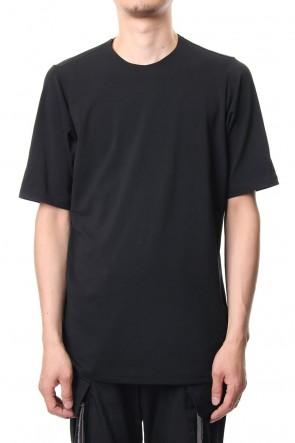DEVOA 19SS Short sleeve Cotton stretch jersey Loose fit - Black