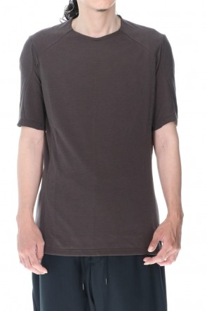DEVOA 20-21AW Short sleeve soft jersey Brown Gray
