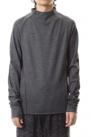 individual sentiments 19-20AW Washable Wool Jersey - CT66-MJ21 Charcoal