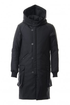 DEVOA 19-20AW Wool Super 120's Batting Hood Coat