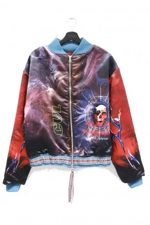 CAVIALE 20-21AW PRINTNED SILK BOMBER WADDED
