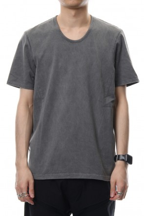 CIVILIZED 19SS U NECK S/S - PIGMENT BLACK -CVM-0028