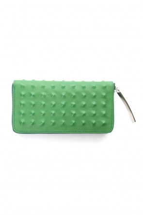 MIHARAYASUHIRO Classic Studs Invisible Long Wallet Green