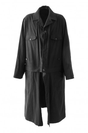 Yohji Yamamoto 17-18AW Cotton Flannel Removable Part Work Jacket